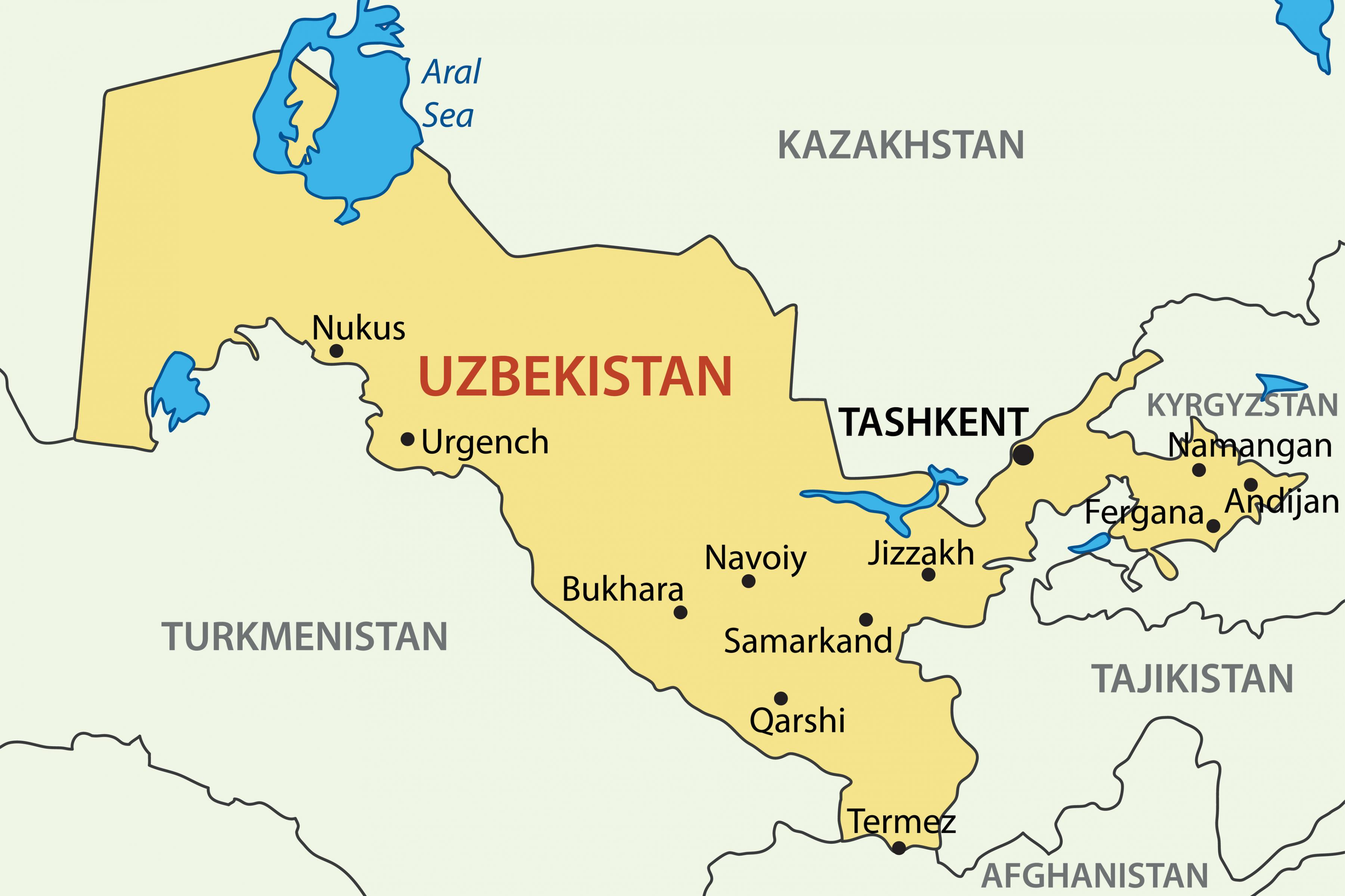 üzbegisztán térkép Térkép Üzbegisztán   a Fővárosban a Üzbegisztán térkép (Közép