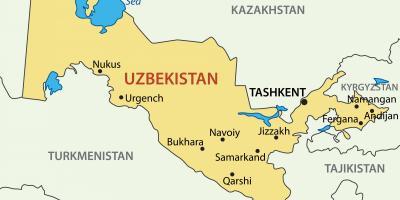 üzbegisztán térkép Üzbegisztán map   a Térképeket Üzbegisztán (Közép Ázsia   Asia)